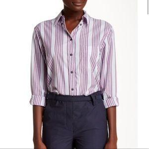 Equipment - Margaux stripe button down shirt top